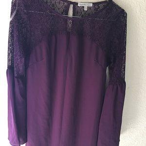 Charlotte Russe Purple Bell Sleeve Slip Dress